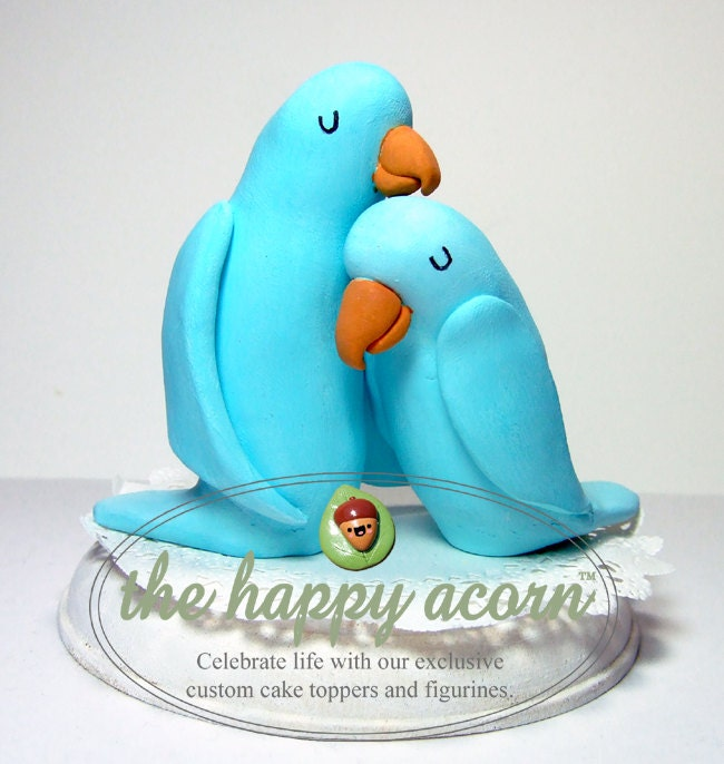 blue love birds wedding cake topper blue birds wedding cake topper ready to ship handmade 11994