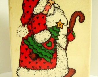 Santa Claus Rubber Stamp