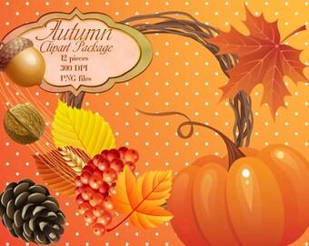 Fall Clipart, Autumn Clipart