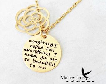 Secret Message Necklace Gold, Brass, NuGold - Secret Message Necklace - Pendant Mother Wife Girlfriend Sister best friend