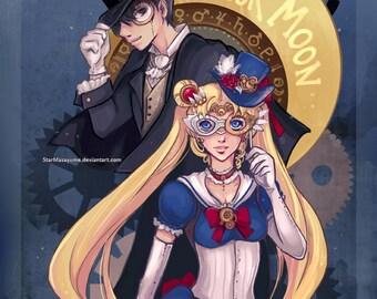 Steampunk Sailor Moon Print