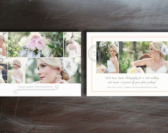 Photography Marketing Template - Wedding Photographer Flyer Design - Instant Download - m0016