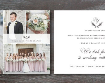 Flyer Template for Photographers - Wedding Photography Branding Templates - 5x7 Digital Photoshop Design - INSTANT DOWNLOAD