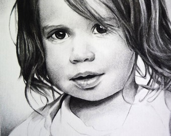 Children Portraits by commission - Comission a custom portrait from your favorite photograph