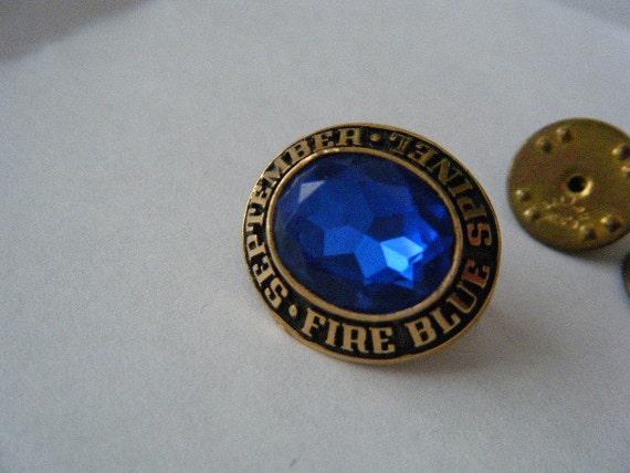 September Fire Blue Spinel Class Ring Display Piece  September Fire ...
