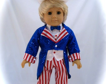 American Girl Sized Uncle Sam Costume
