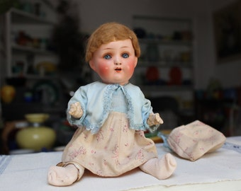 "Heubach Koppelsdorf 320 14/0 Germany Doll Bisque head Breather 9"" Original VINTAGE by Plantdreaming"
