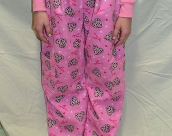 Girls Valentine's Day Flannel Pajama Pants Size 8