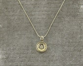 Letter O Necklace - Silver Initial Typewriter Key Charm Necklace - Gwen Delicious Jewelry Design GDJ