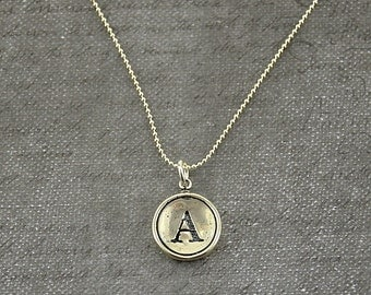 Silver Bridesmaid Necklace - Pick your Letter