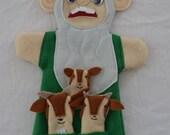 Hand puppet - Troll & 3 Billy Goats Finger Puppets