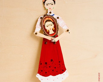 Frida Kahlo Articulated Paper Doll