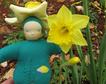 Waldorf Flower Doll - Miss Narcissus Daffodil - Made to Order