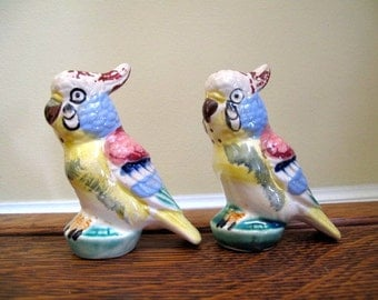 Parrot Salt and Pepper Shakers from Japan