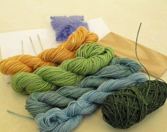 Hand-Dyed Thread - Mini-Skein Set for Looping or Crochet -- LSK101302