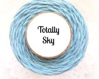 Solid Light Blue Bakers Twine by Trendy Twine - Totally Sky