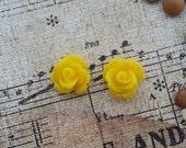 Flower Plugs Gauges Yellow Roses