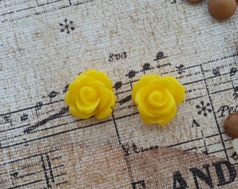 Flower Plugs Gauges Yellow Roses
