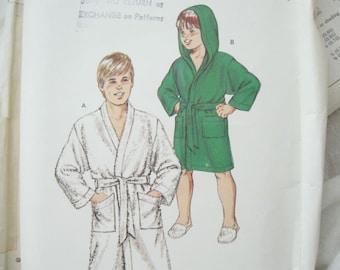 Kwik Sew 1441 Boys Bathrobe Vintage Sewing Pattern Size 8