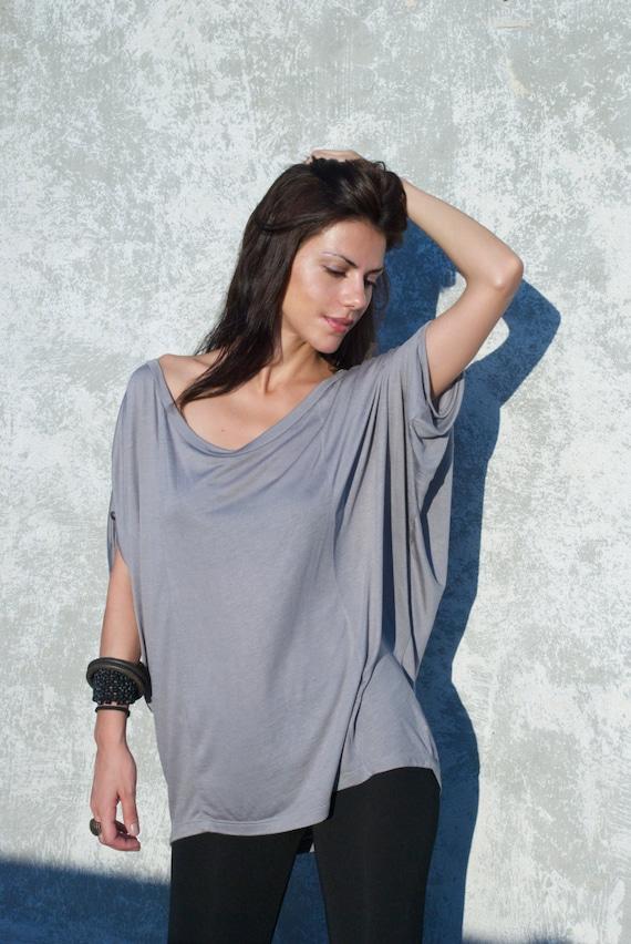 Women's Shirt / Oversized Blouse / Slouchy Blouse / Loose Top / Long Top / Top Tunic / Kimono Top / marcellamoda - MB042