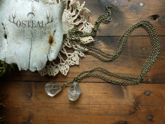 Wahrsager - rough crystal layering necklace