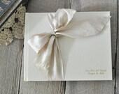 Custom Wedding Guestbook - Wedding Album - Silk Dupioni Bow by Claire Magnolia