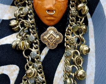 ON SALE-Bengali Goddess Brooch