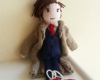 Doctor Who David Tennant doll knitting pattern