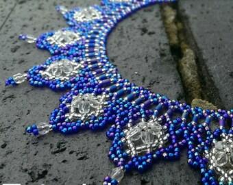 Regal Necklace Beadwork Pattern/Tutorial - Instant Download