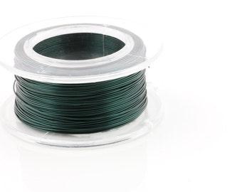 WIRE - 24g (AWG) Teal - Enamel Copper Wire - 20 yard spool.