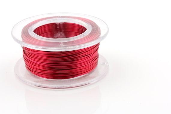 WIRE - 18g (AWG) Magenta - Enameled Copper Wire - 7 yard spool