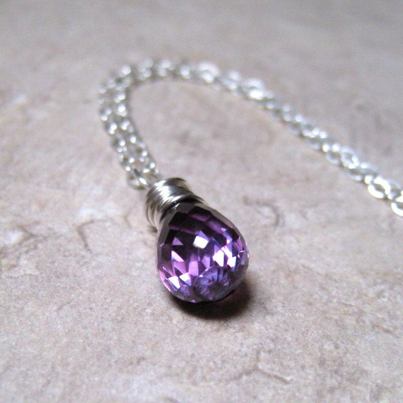 little girl necklace alexandrite pendant sterling silver