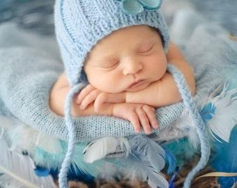 Newborn photo prop, newborn hat, newborn boy, newborn girl, knit newborn hat, newborn props, any color newborn ribbed bonnet/ gnome hat