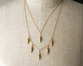 Gold Spike Necklace, Layering Necklace, Chain Necklace