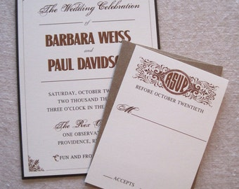 Old World Wedding Invitation
