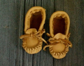 Children's moccasins , Leather moccasins for children , Soft sole shoes , Moccasins , Leather shoes