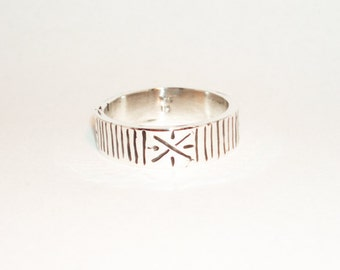Viking ring, sterling silver, size US 12,5