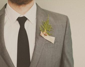 groomsmen wedding boutonniere, spring wedding, spring, outdoor weddings, fern boutonniere, woodland wedding, natural keepsake 'Forest Floor'