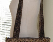 Chocolate Brown Cotton Batik Tote Purse