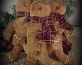 Made to Order Primitive Grungy Gingerbread Men - Set of 3 - Rusty Jingle Bells  Ofg, HaFair, STATTEAM CIJ HDM