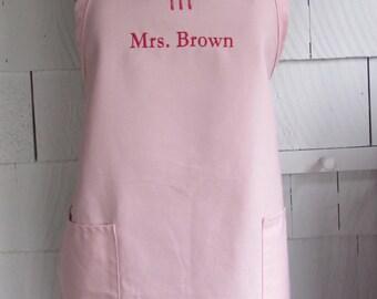 Personalized Mrs Apron - Monogrammed Personalized Apron - Baking Apron - Custom Text