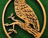 Wood Owl Ornament