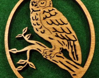 Wood Owl Ornament