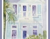 Beach House Paintings ~ Custom Watercolor, home portrait, anniversary gift, wedding gift, wedding venue, original painting home