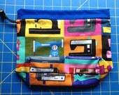 SALE Sewing Machines Drawstring Bag
