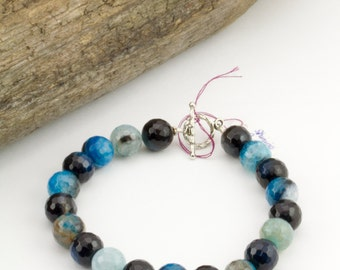 Shining Bright - Blue Faceted Bracelet - B13