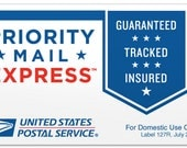 EXPRESS shipping! Overnight Domestic Shipping