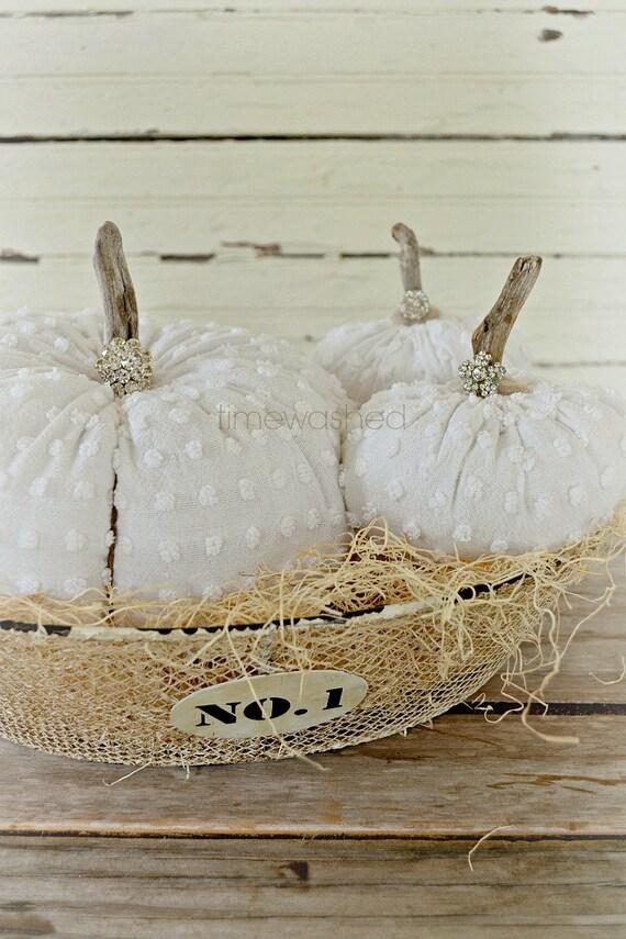 Fabric Pumpkins-Vintage Popcorn Chenille