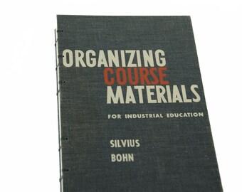 1961 INDUSTRIAL EDUCATION Vintage Sketch Notebook Journal
