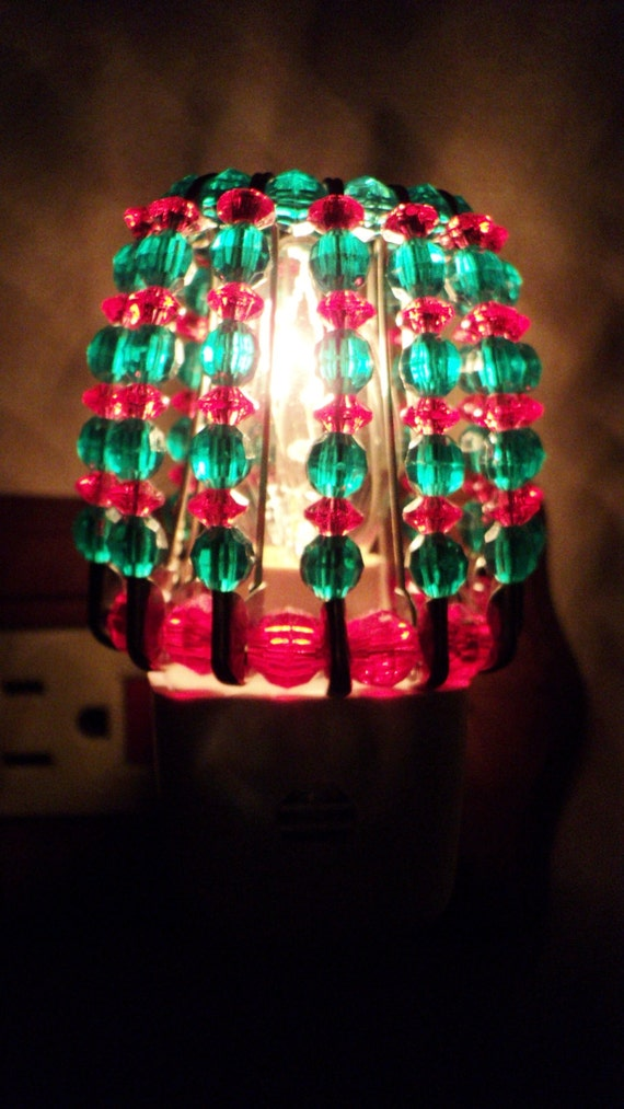 Night Light Shade Beaded Christmas Holiday Home Decor